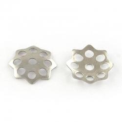 10 stk  Edelstahl Perlkappen, 10x1.5 mm, Bohrung: 1.5 mm