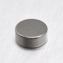 Flache runde Magnete Platin Farbe, 7x2 mm