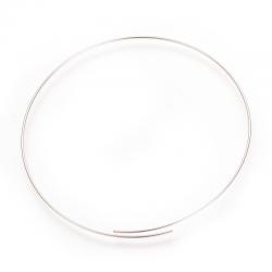 1 Windung Edelstahl-Memory-Draht, Platinfarbe, 0,5 mm; 55 mm