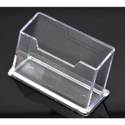 Transparenter Aufsteller für Visitenkarten. 10.5cm x4.5cm x4.5cm
