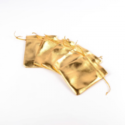 Beutel, golden, ca. 10 cm breit, 12 cm lang