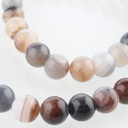Natürliche Botswana-Achat Perlen, 8 mm, Bohrung: 1 mm; Ca. 49 Stk. / Strang