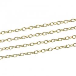1m Gliederkette 14K Gold plattiert, Eisen Legierung. Grösse 3.7x3mm