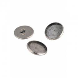 Metallknöpfe 12mm mit Fassung für 10mm Klebstein
