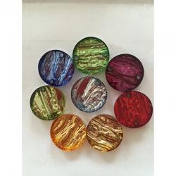 10ner Mix Sirene Acrylteile rund 20mm, farben zufällig
