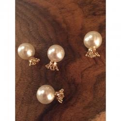 Perle mit Krone, ohne loch. In der Krone eine kl Öse vorhanden. 17x12mm
