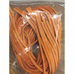 Kunstwild-Lederschnur  orange 95cm lang, 2x1cm