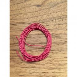 Echt Lederschnur,rosa 1mm dm, 200 cm lang