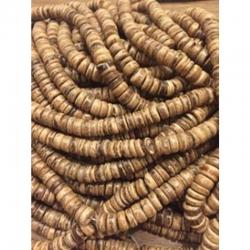 10 stk Kokos Perlen Flachrund 7x4mm Bohrung 1mm