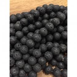 Natürliche Lavaperlen 12mm,bohrung 1mm, 34 stk pro strang