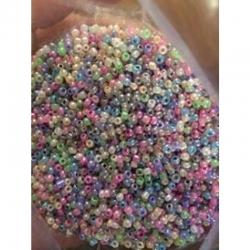 20 gr Glasperlen 2mm, farblicher zufallsmix