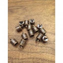 Endkappen Rotkupfer 16x10x7.5mm, bohrung 3mm