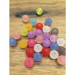 10 stk Acrylperlen gefrostet 10mm, bohung2mm