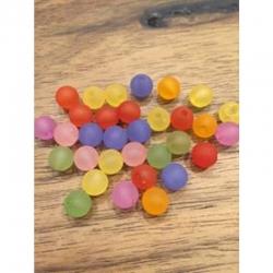 10 stk Acrylperlen gefrostet 8 mm, bohrung 1.5mm