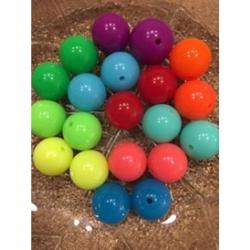 5 stk fluoriszieende Acrylperlen 18mm, bohrung 3mm