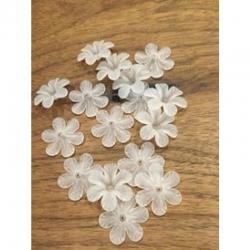 Transparente Acrylblumen-Perle gefrostet 33mm dm, 8mm doick, bohrung 2mm