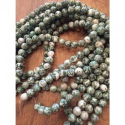 1 Strang Green spot Edelstein-Perlen, 10mm bohrung 1mm