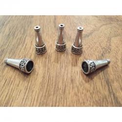 End- bzw Perlkappen antiksilber 21.5x10mm Bohrung 1.5mm / 7.5mm
