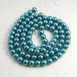 Glas Perlen pearlized, 10 mm bohrung 1 mm, ca. 85 Stk. / strang,